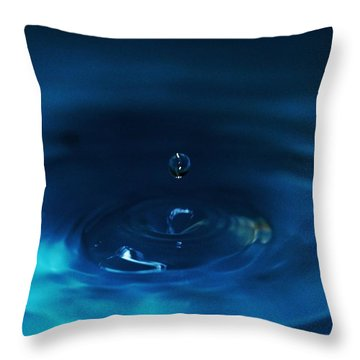 Drop Of Water -  Abstract Art Throw Pillow by Ramabhadran Thirupattur