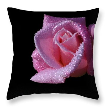 Throw Pillow featuring the photograph Droplets by Doug Norkum