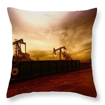 Dropping A Tank Throw Pillow by Jeff Swan