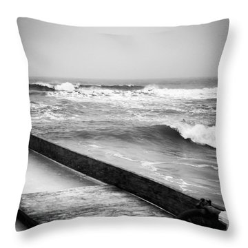 Dropping Bombs Throw Pillow