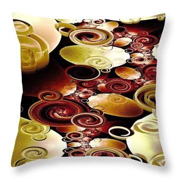 Drops And Ripples Throw Pillow