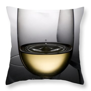 Drops Of Wine In Wine Glasses Throw Pillow