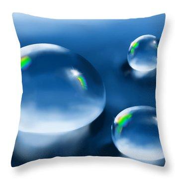 Drops Throw Pillow by Veronica Minozzi