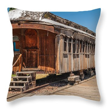 Drover And Cattle Cars Throw Pillow