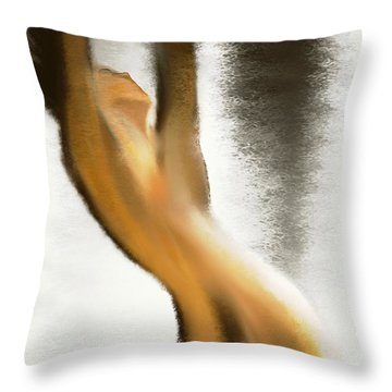 Drown In The Rain Throw Pillow by Len YewHeng