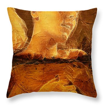 Drown To Black Throw Pillow