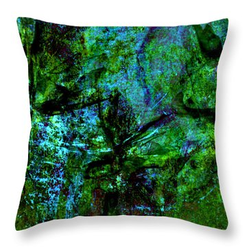 Throw Pillow featuring the mixed media Drowning by Ally  White