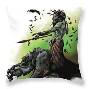 Druid Throw Pillow