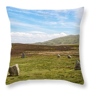 Druids Stone Circle Throw Pillow by Amanda Elwell