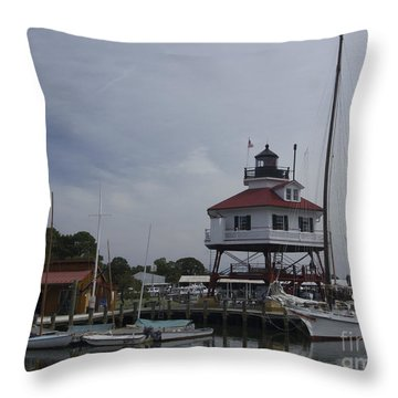 Drum Point Light Throw Pillow