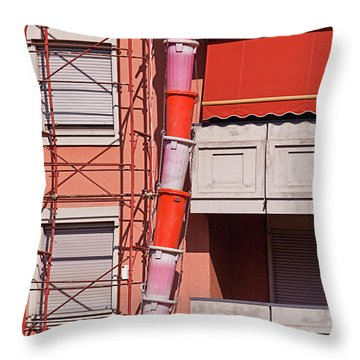 Drum Snake Throw Pillow