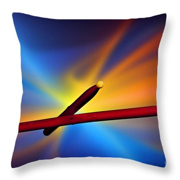 Drum Sticks Photograph For Combo Jazz  Color 3233.02 Throw Pillow