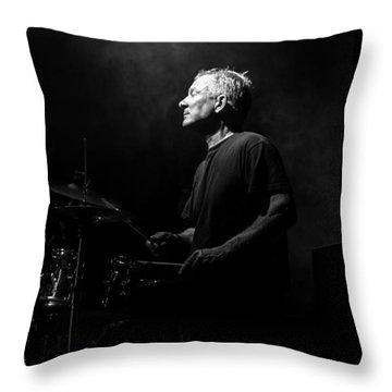 Drummer Portrait Of A Muscian Throw Pillow