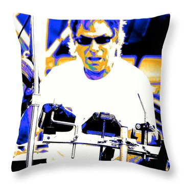 Drumming On The Edge Of Magic Throw Pillow by Jesse Ciazza