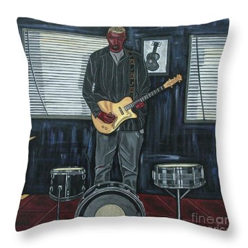 Drums And Wires Throw Pillow by Sandra Marie Adams