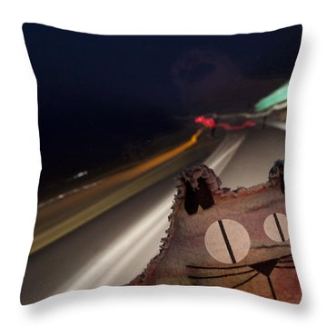 Drunk Driver Throw Pillow by Jeannette Hunt