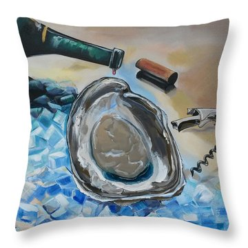 Drunken Oyster Throw Pillow