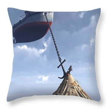 Dry Dock Throw Pillow by Cynthia Decker