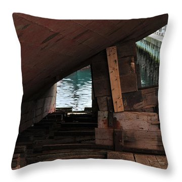 Dry-dock Throw Pillow by Mike Martin