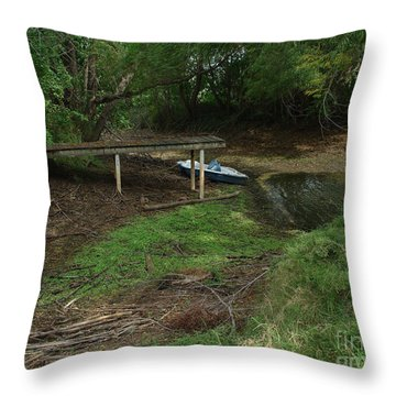 Throw Pillow featuring the photograph Dry Docked by Peter Piatt