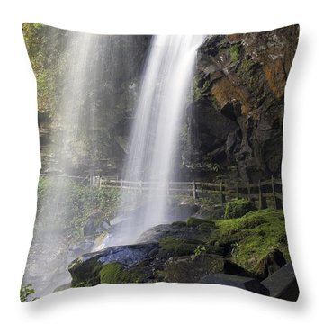 Throw Pillow featuring the photograph Dry Falls North Carolina by Charles Beeler