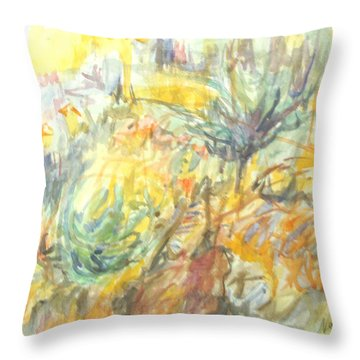 Dry Underbrush Throw Pillow by Esther Newman-Cohen