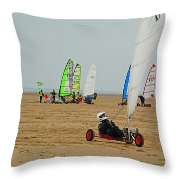 Dry Yacht Race Throw Pillow
