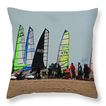 Dry Yachts Throw Pillow