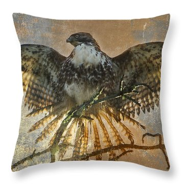Drying Out Throw Pillow by Angie Vogel