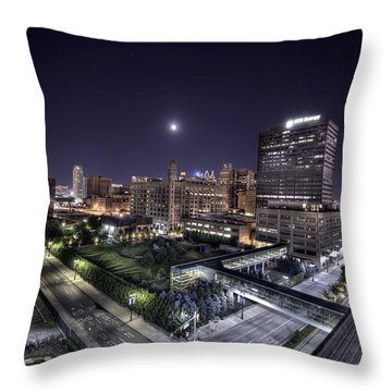 Dte In Detroit Throw Pillow