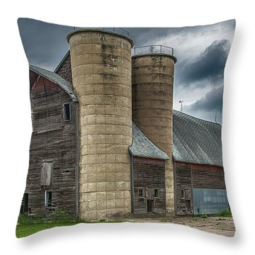 Dual Silos Throw Pillow by Paul Freidlund