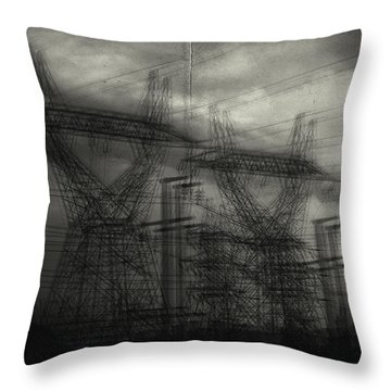 Duality Throw Pillow by Taylan Apukovska