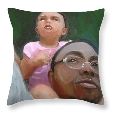 Throw Pillow featuring the painting Duane by Vannetta Ferguson