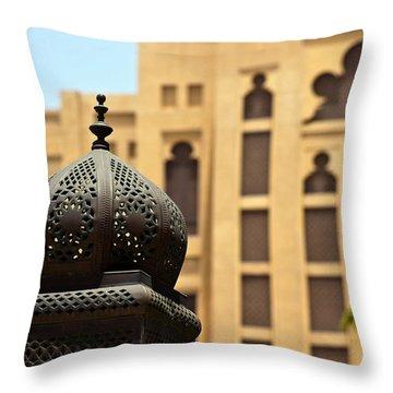 Dubai Arches Throw Pillow by Debi Demetrion