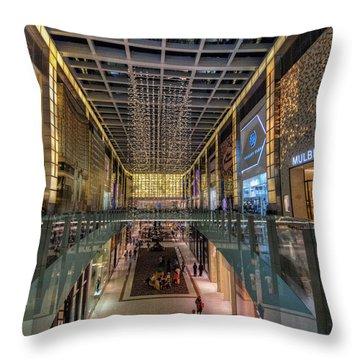 Throw Pillow featuring the photograph Dubai Mall by John Swartz