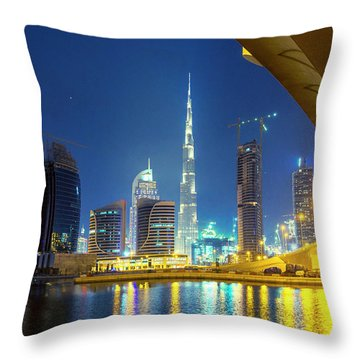 Shopping Districts Throw Pillows