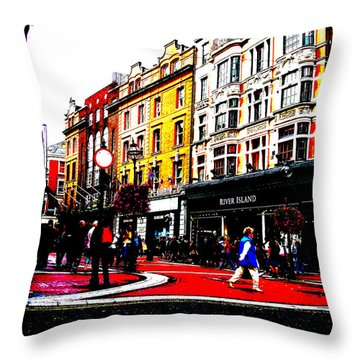 Dublin City Vibe Throw Pillow by Charlie and Norma Brock