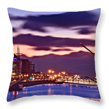 Dublin Docklands At Dawn / Dublin Throw Pillow