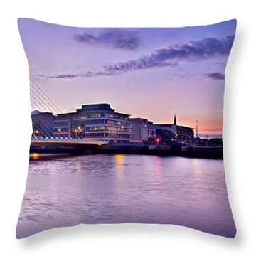 Dublin Docklands Panorama / Dublin Throw Pillow
