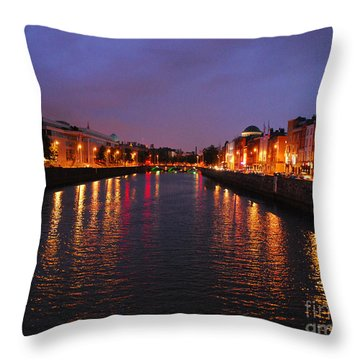 Dublin Nights Throw Pillow by Mary Carol Story