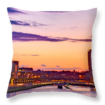 Dublin Skyline At Dusk / Dublin Throw Pillow
