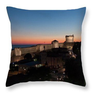 Dubrovnik Throw Pillow by Silvia Bruno