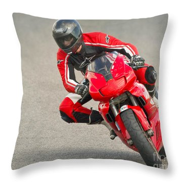 Ducati 900 Supersport Throw Pillow by Jerry Fornarotto