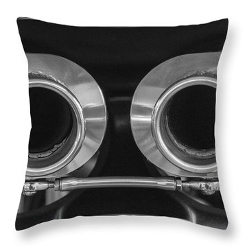 Ducati Twin Exhaust Throw Pillow
