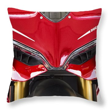 Ducati-unplugged V11 Throw Pillow