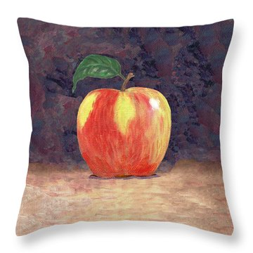 Duchess Apple Two Throw Pillow by Linda Mears