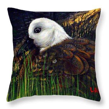 Duck At Dusk Throw Pillow