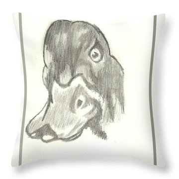 Duck Bill In Pencil Throw Pillow