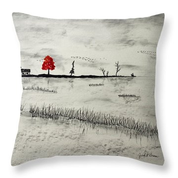 Duck Blind Throw Pillow