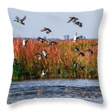 Duck Blind Throw Pillow